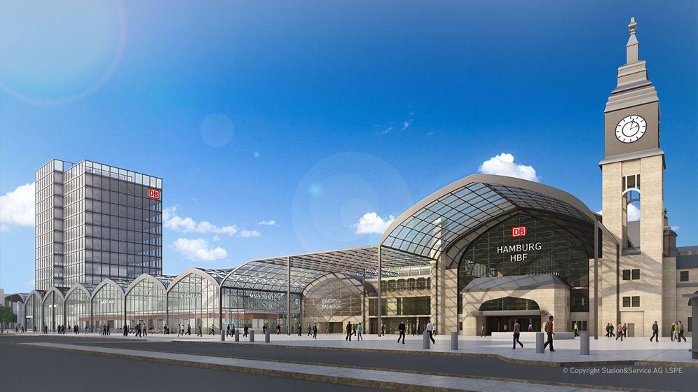 Hamburger Hauptbahnhof: Viel Glas und ein Hochhaus