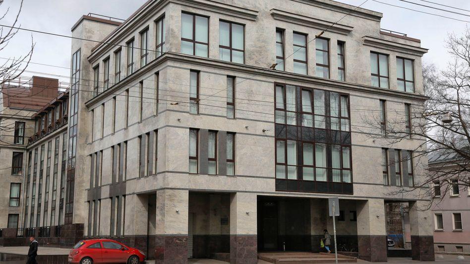 In diesem Gebäude saß die Troll-Fabrik in Sankt Petersburg.