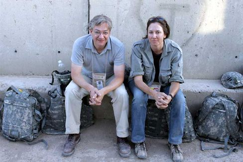 Reporter Ullrich Fichtner (left), 42, and photographer Tina Hager, 43, spent three weeks in Iraq researching the current SPIEGEL cover story. For Fichtner, it was his fourth trip to Iraq since the war broke out in March 2003.