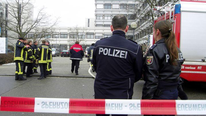 Ludwigshafen: Großeinsatz an Berufsschule