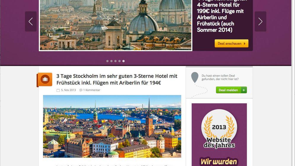 Schnäppchen-Portale im Internet: Billige Reisen für Facebook-Fans