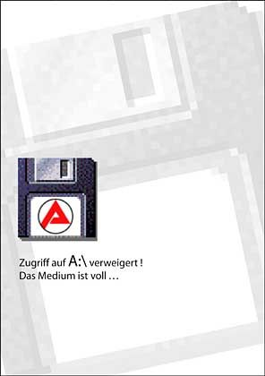 Arbeitsamt-Plakat: Zugriff verweigert