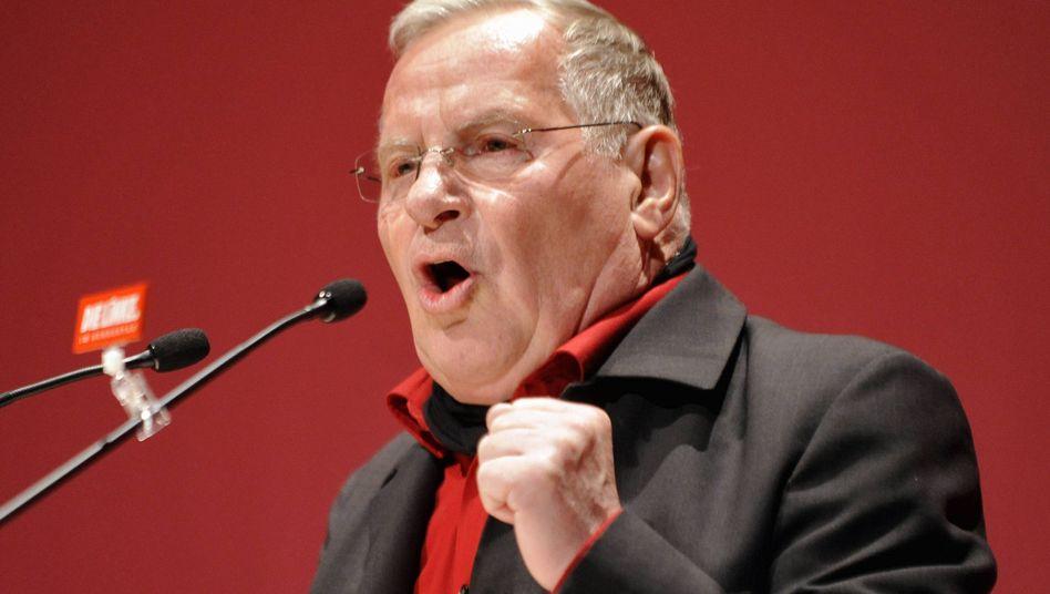 Ex-Linke-Chef Bisky bei einer Parteiveranstaltung 2010: Zum Glück scheidet Sibirien aus