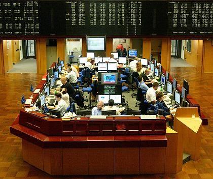Börse in Frankfurt am Main: Finanzvermögen wächst schneller als die Produktivität.