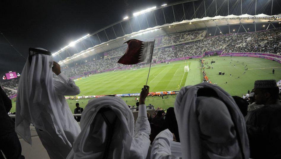 Fußballspiel im Khalifa-Stadion in Doha (2011)