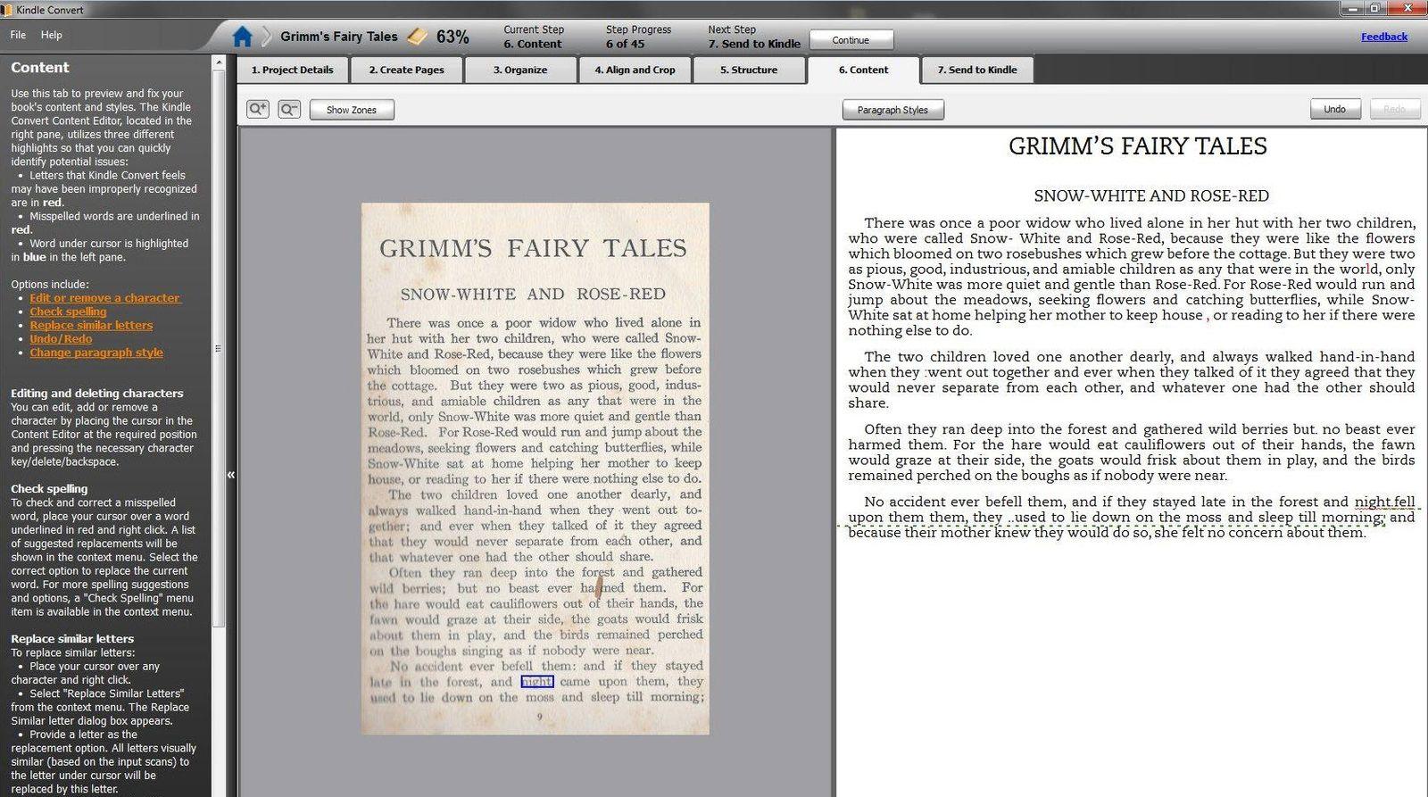 NUR ALS ZITAT Screenshot/ Kindle Convert