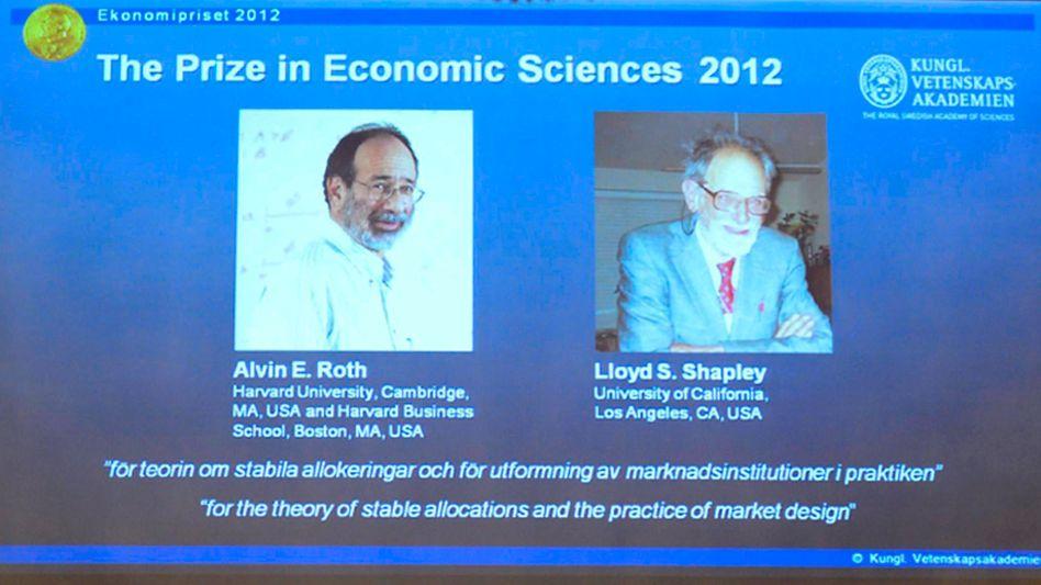 Auszeichnung in Stockholm: Wirtschaftsnobelpreis geht an zwei Amerikaner