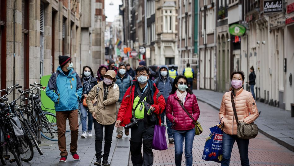 Touristen in Amsterdam