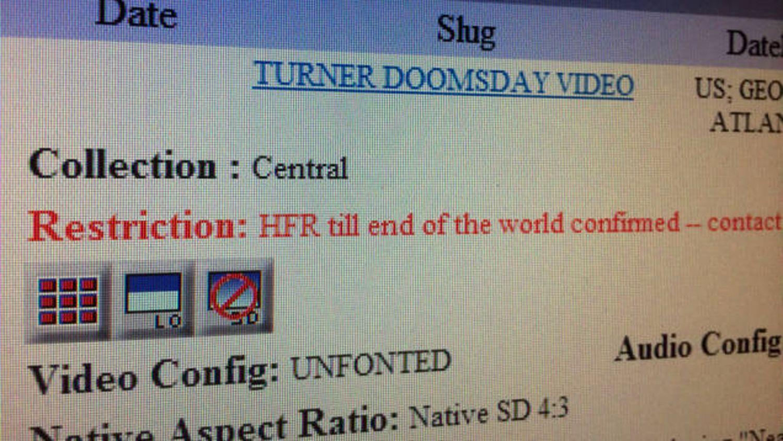 EINMALIGE VERWENDUNG TV/ Ted Turner Doomsday Video/ CNN