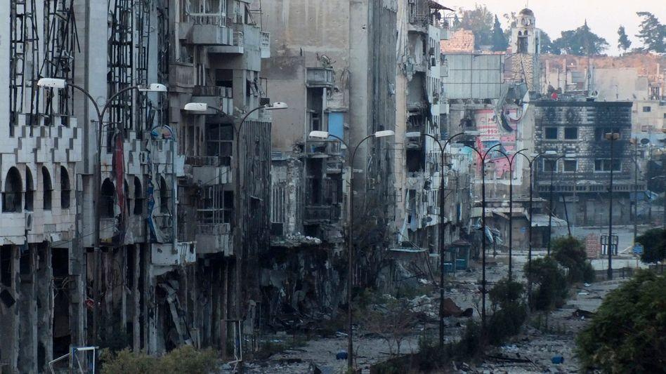 Zerstörte syrische Stadt Homs: Damaskus begrüßt Moskaus Initiative