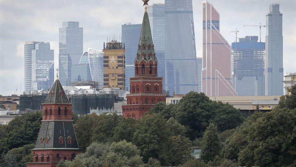 """Kreml vor der Moskauer Skyline: """"Es ist alles ruhig"""""""
