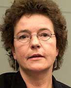Geschockt: Angelika Beer, rüstungspolitische Sprecherin der Grünen