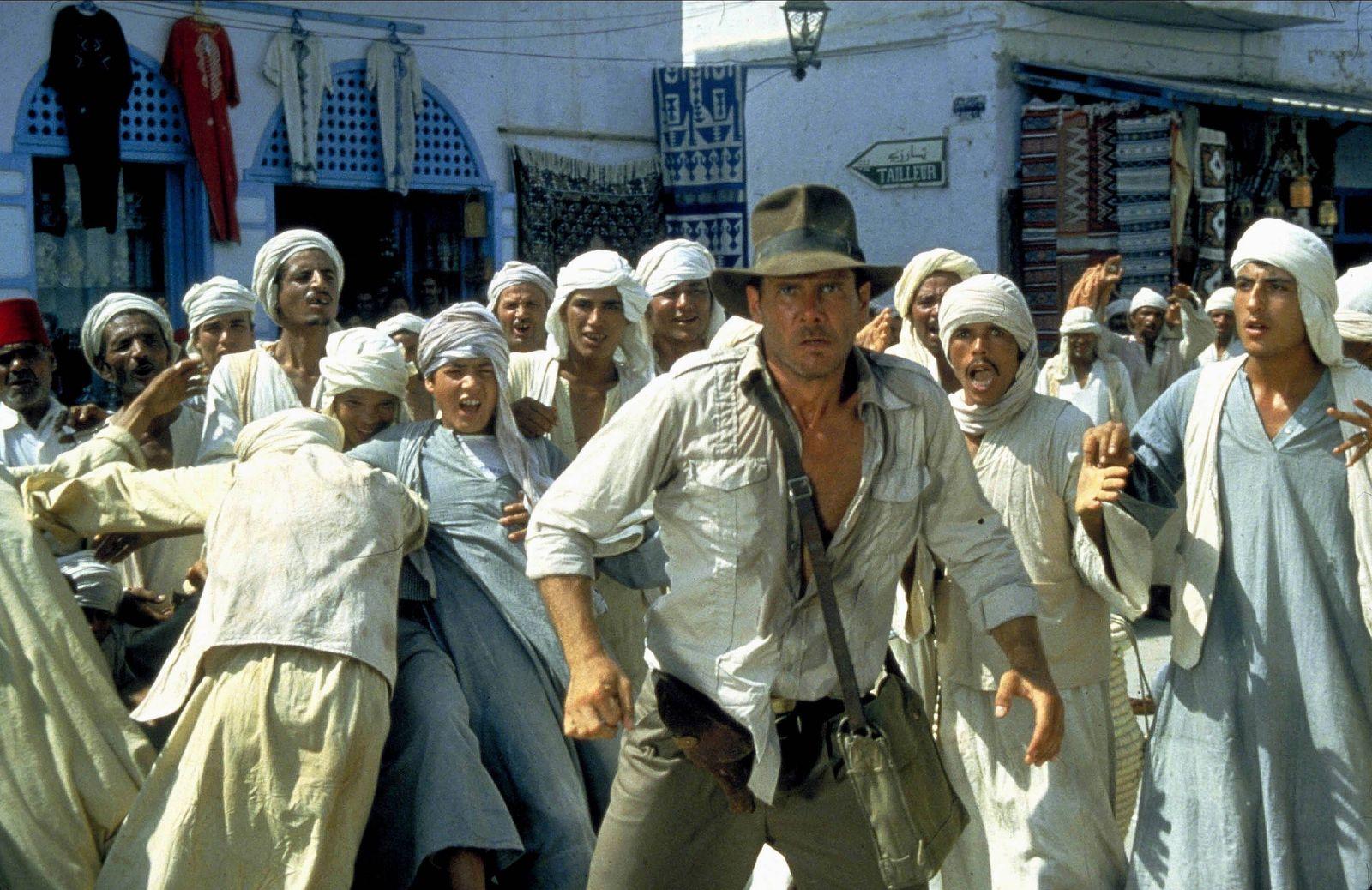 Harrison Ford Characters: Indiana Jones Film: Raiders Of The Lost Ark; Indiana Jones 1 (USA 1981) Director: Steven Spiel