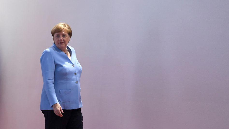 In Osaka sprach Angela Merkel auch kurz über ihre Zitteranfälle.
