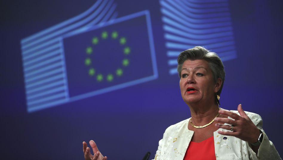 EU-Kommissarin Johansson