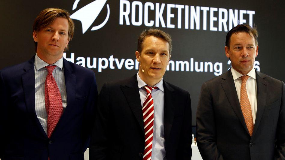 Rocket-Internet-Management um Oliver Samwer (Mitte)