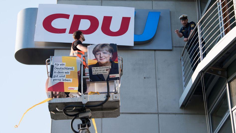 CDU-Plakate (Archivbild)