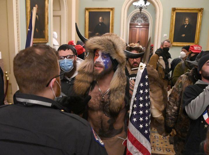Trump-Anhänger am 6. Januar 2021 im US-Kapitol
