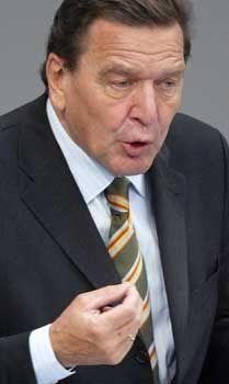 Gerhard Schröder: ... dann könnt ihr euch einen anderen suchen