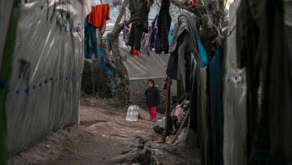 Katastrophale Bedingungen: Im Auftrag der Bundesregierung wollte das Technische Hilfswerk die Wasserversorgung in einem Flüchtlingscamp auf den griechischen Inseln verbessern