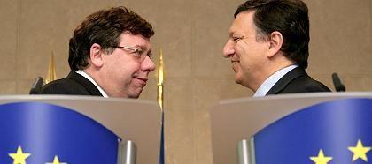 Irlands Premier Cowen und EU-Kommissionspräsident Barroso: Keine Frist