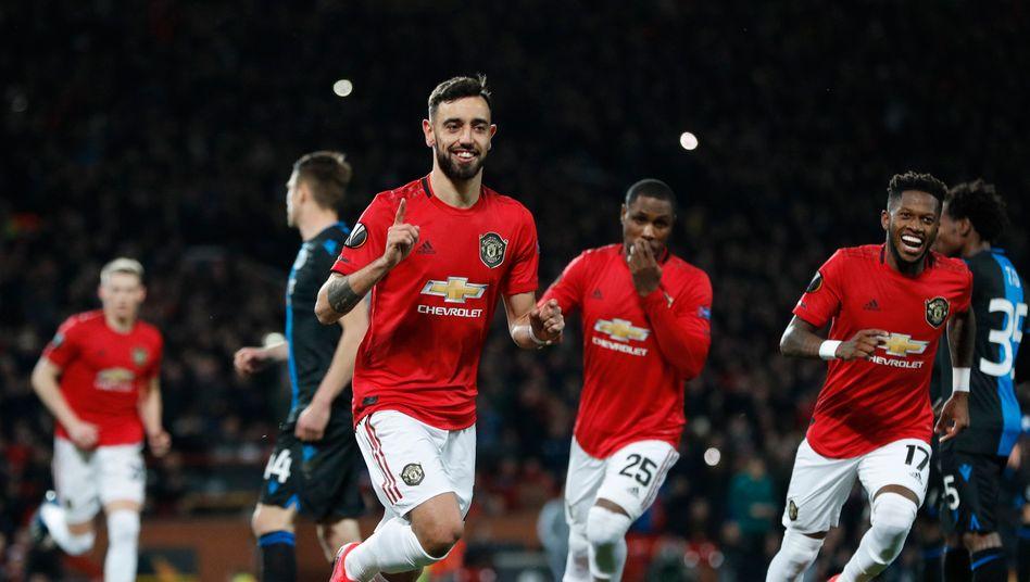 Europa League: Manchester United feiert Kantersieg, Ajax' Aufholjagd kommt zu spät