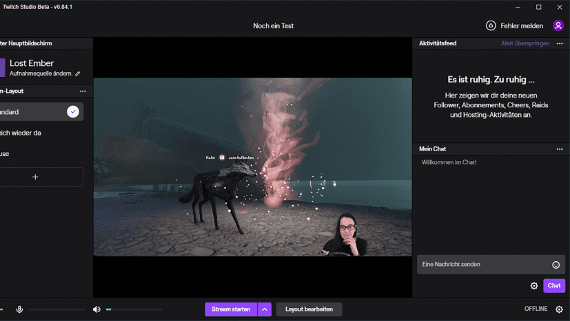 Screenshot aus Twitch Studio Beta: Eine eigene Software der Plattform