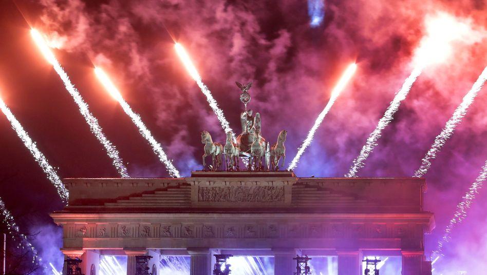 Die Silvestershow am Brandenburger Tor fand ohne Publikum statt