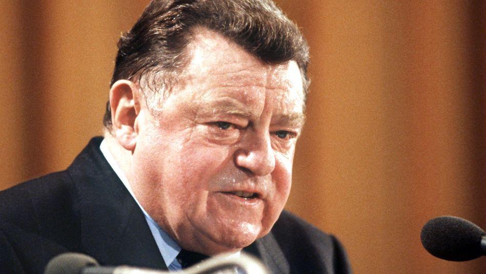 Bayerns ehemaliger Regierungschef Franz Josef Strauß