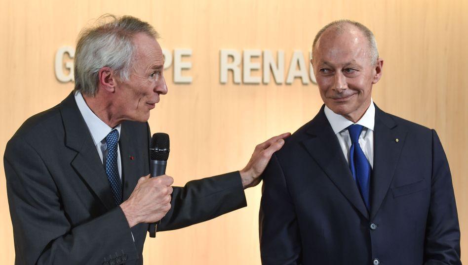 Jean-Dominique Senard (l.) und Thierry Bolloré