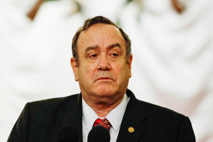 Unbeliebt: Viele wollen, dass Präsident Alejandro Giammattei zurücktritt
