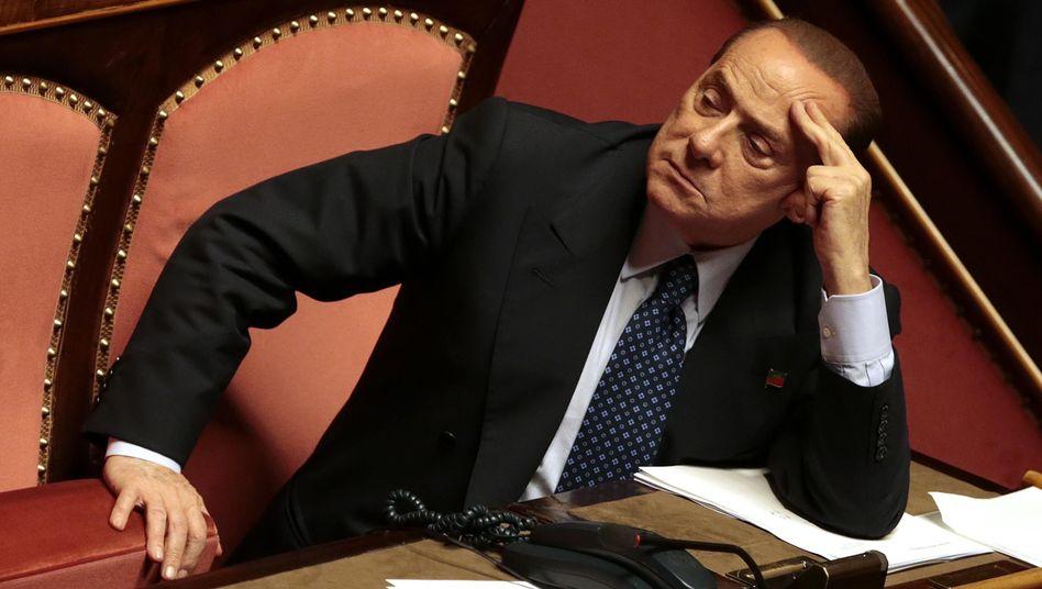 Silvio Berlusconi im italienischen Senat: Erstmals sagt jemand Nein