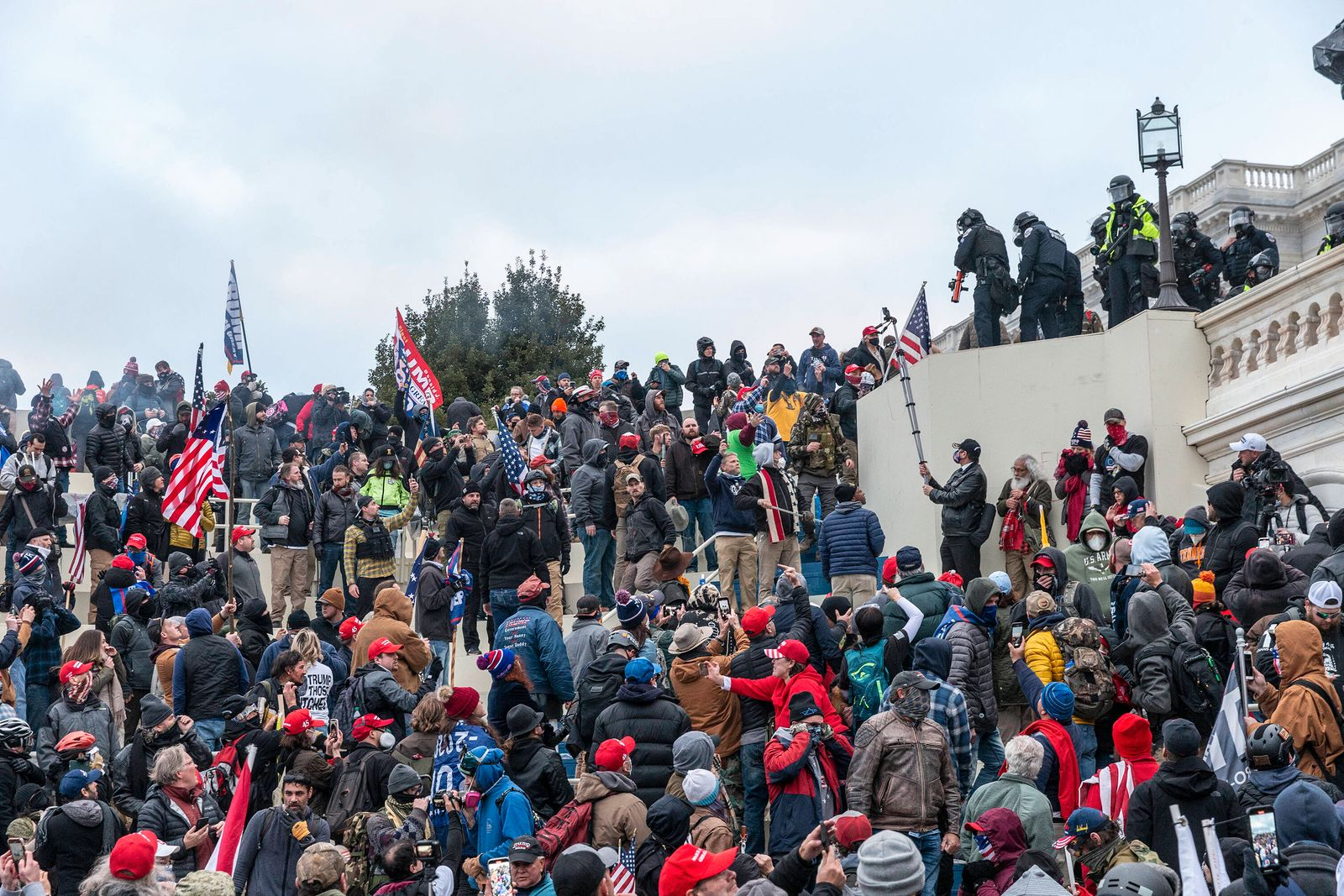 Pro-Trump Riot in Washington DC Protesters seen all over Capitol building where pro-Trump supporters riot and breached