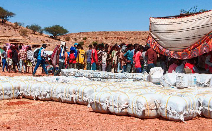 Geflüchtete Äthiopier im Sudan: Rund 20.000 Menschen haben in dem Land bereits Schutz gesucht