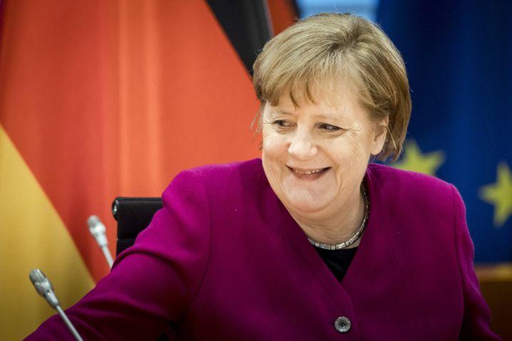 Kanzlerin Angela Merkel: »Gerade Berufe, die sonst nicht solche Aufmerksamkeit bekommen, haben das Land am Laufen gehalten«