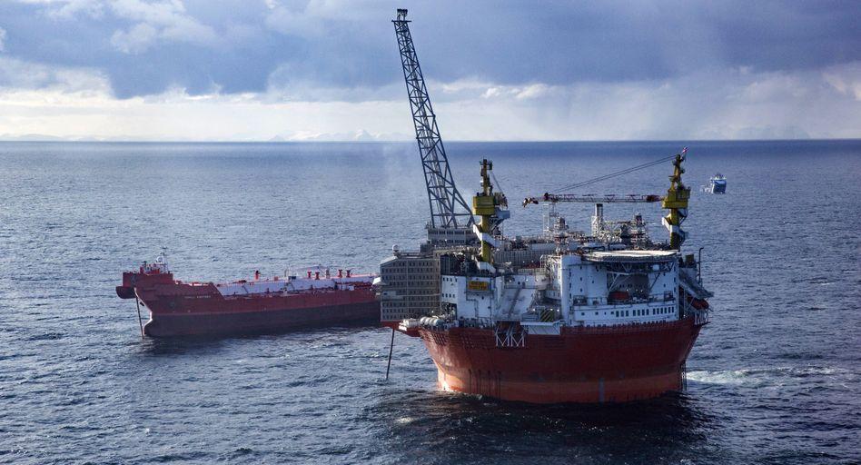 """Plattform """"Goliat"""" in der Barentssee: Die Betreiber Eni und Equinor, ehemals Statoil, erschlossen mit ihr 2016 das weltweit nördlichste Ölfeld"""