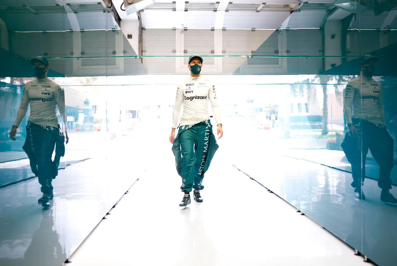 Formula 1 2021: Bahrain March testing BAHRAIN INTERNATIONAL CIRCUIT, BAHRAIN - MARCH 11: Sebastian Vettel, Aston Martin