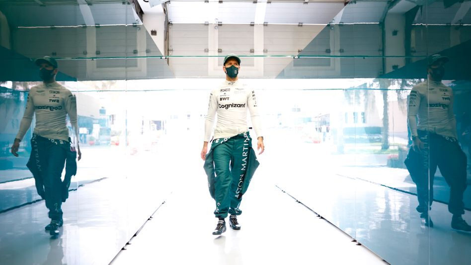 Rennfahrer Vettel im März in Bahrain