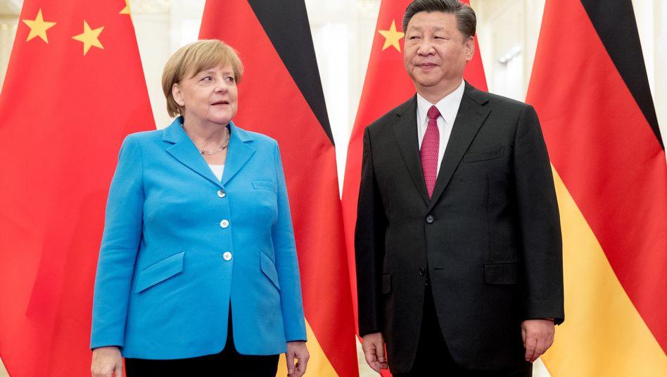 Kanzlerin Merkel, chinesischer Präsident Xi Jinping (Foto vom September 2019)