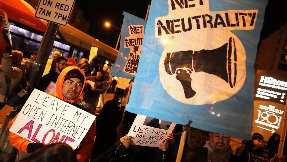 Proteste für Netzneutralität in den USA
