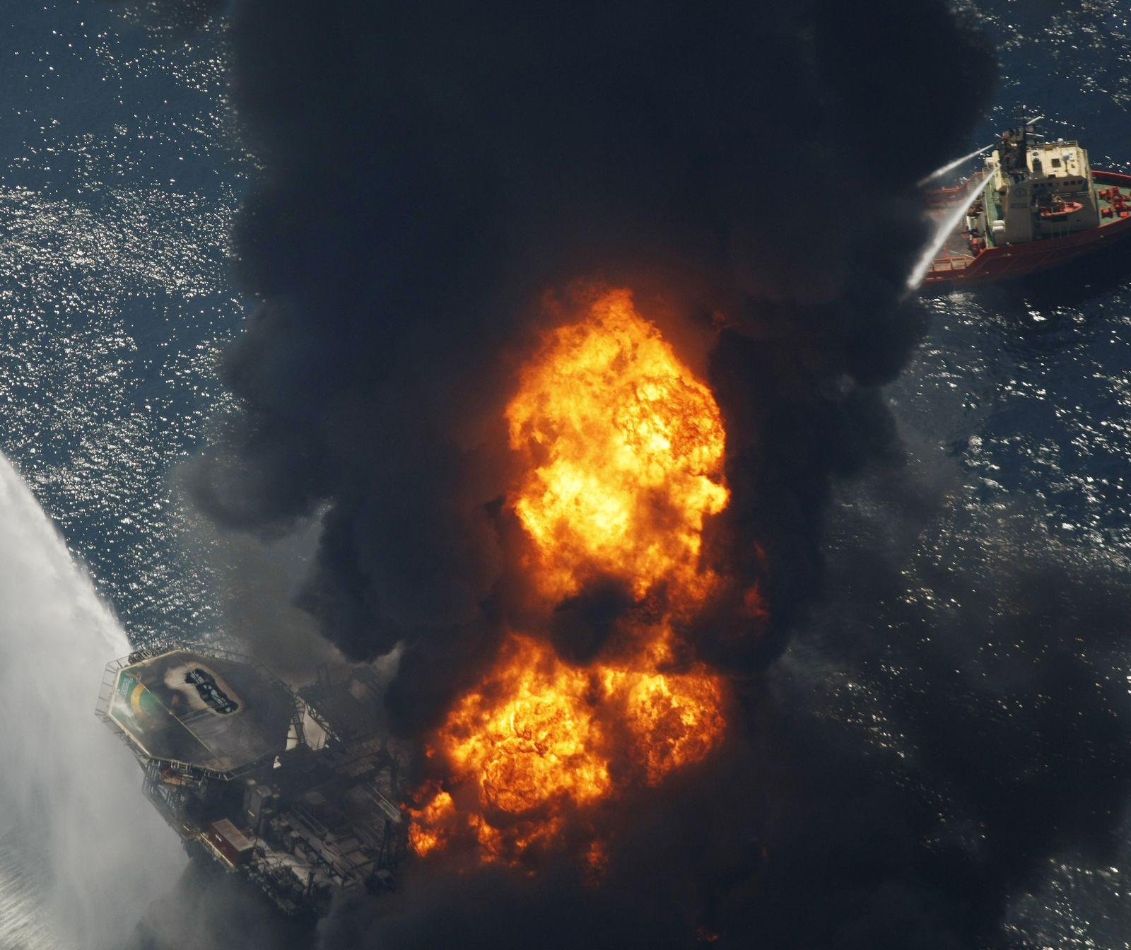 Bohrinsel / Explosion / Deepwater Horizon