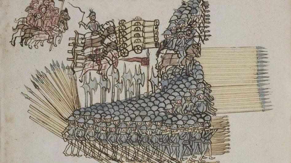 """Der Büchsenmacher Philipp Mönch dokumentierte in seinem """"Kriegsbuch"""" 1496 die Kriegstechnik seiner Zeit"""