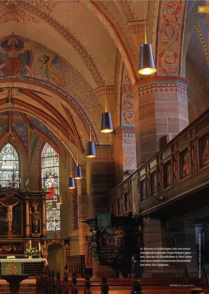 St. Vincenz in Schöningen: Hier von einem Standpunkt unter der Orgel-Empore gesehen
