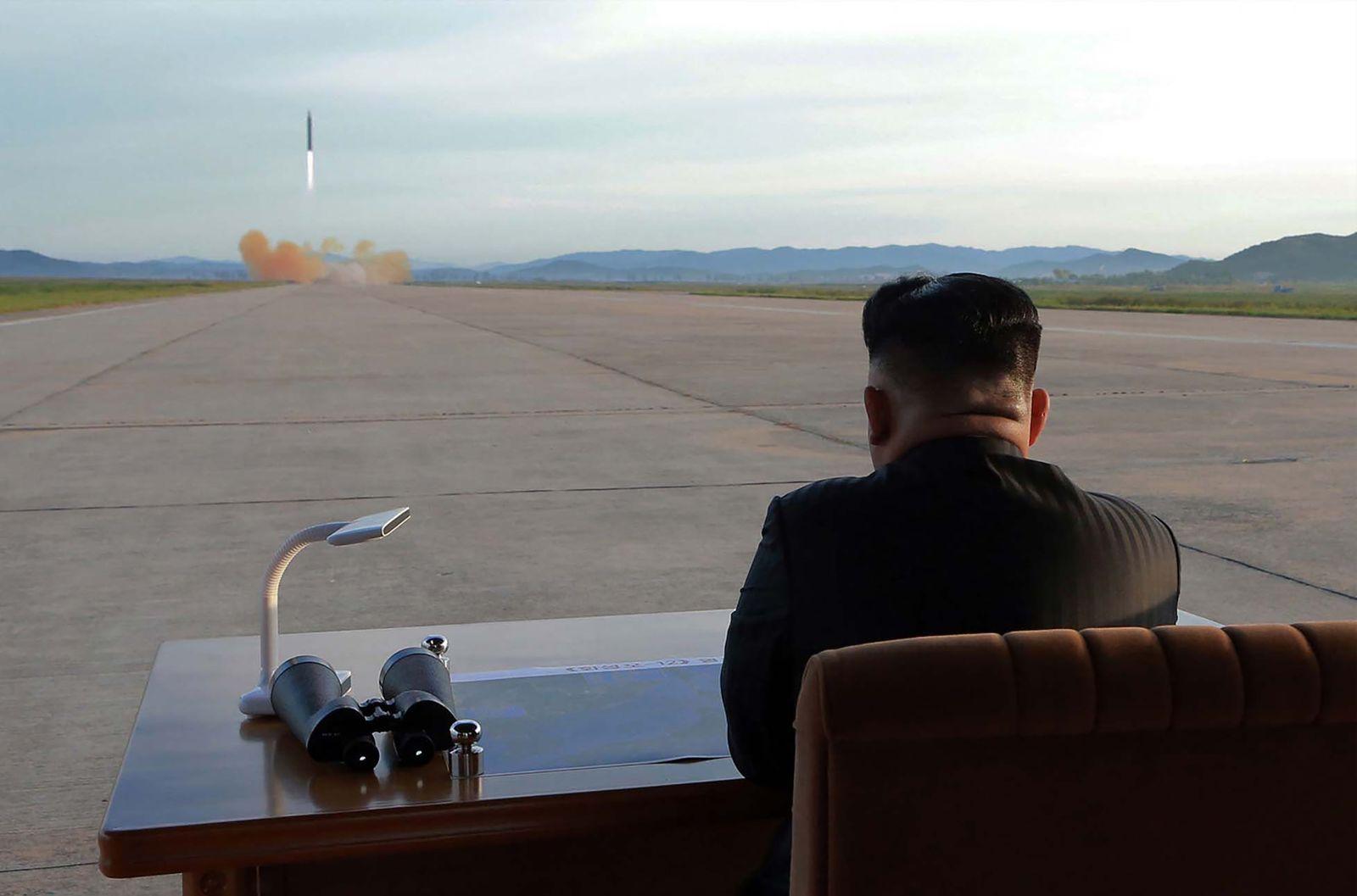 Kim Jong Un/ Raketentest