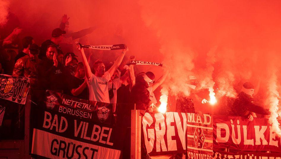 Gladbacher Fans in Rom