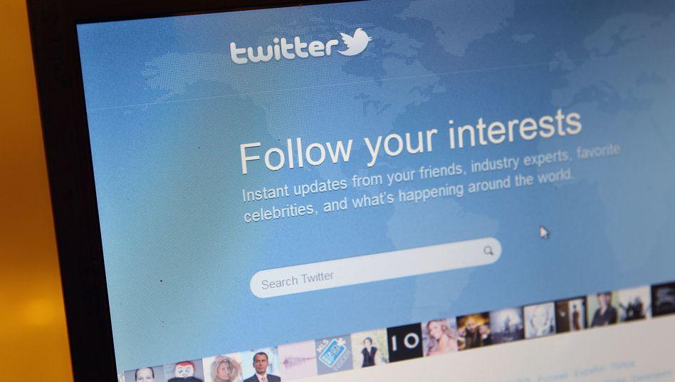 Twitter-Seite: Den eigenen Interessen folgen