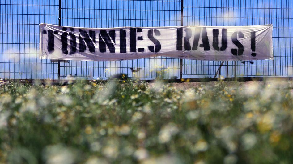 Anti-Tönnies-Plakat in Gelsenkirchen