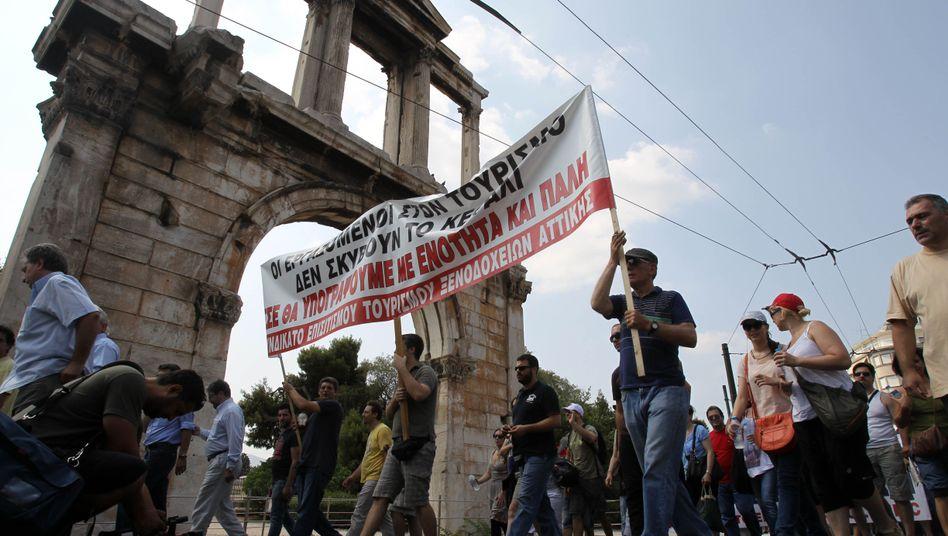 """Demonstranten in Athen: """"Eine historisch einmalige Gelegenheit"""""""