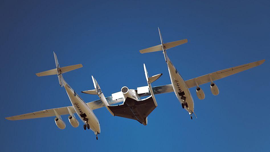 """Weltraumtourismus: """"SpaceShipTwo"""" absolviert ersten Testflug"""