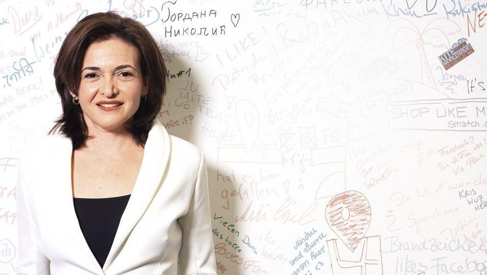 Managerin Sandberg in der Hamburger Facebook-Niederlassung